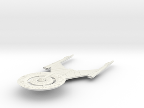 """USS Discovery 6"""" long in White Natural Versatile Plastic"""