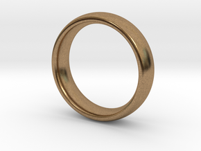 Wedding ring for female 17mm in Natural Brass