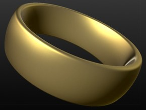 Wedding ring for male 20mm in 18k Gold Plated Brass