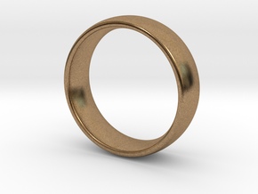 Wedding ring for male 21mm in Natural Brass