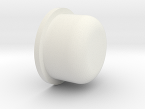Duck button (Smooth) in White Natural Versatile Plastic