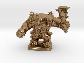 HeroQuest Polar War Bear 28mm miniature in Natural Brass