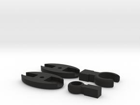 SCUBA - Carabiner Type - LP Hose Clip in Black Natural Versatile Plastic