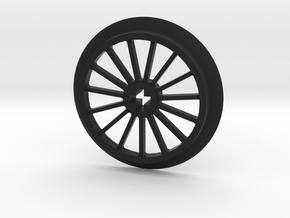 Large Thin Train Wheel in Black Premium Versatile Plastic