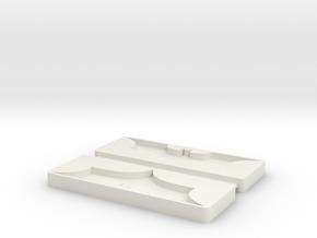 Batman Mold Tray in White Natural Versatile Plastic