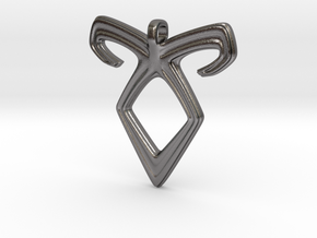 Angelic Power Pendant in Polished Nickel Steel