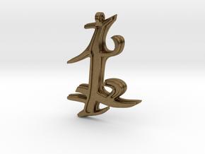 Parabatai Rune Pendant  in Natural Bronze