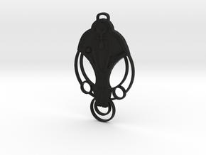 For Cardassia Festoon Pendant in Black Natural Versatile Plastic