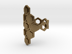 Bee Square 3T Cylinder Ring in Natural Bronze: 4 / 46.5
