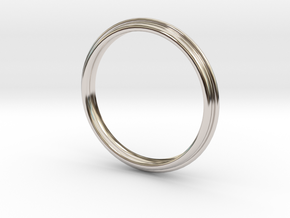 PNEUS Bangle in Rhodium Plated Brass