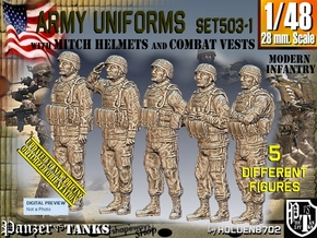 1/48 Mod Unif VEST+MICH Set503-1 in Smooth Fine Detail Plastic