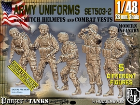 1/48 Mod Unif VEST+MICH Set503-2 in Smooth Fine Detail Plastic