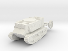 1/87 (HO) Little Willie the first tank in White Natural Versatile Plastic