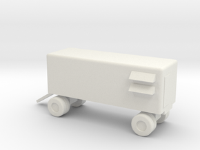 1/144 Scale Nike Maintenance Van in White Natural Versatile Plastic