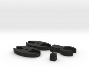 SCUBA - Rope Type - HP Hose Clip in Black Natural Versatile Plastic