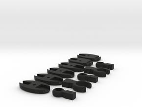 SCUBA - C. LP And HP Hose Clip And Octopus Holder in Black Natural Versatile Plastic