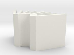 BuisnessCardHolder in White Natural Versatile Plastic: Small