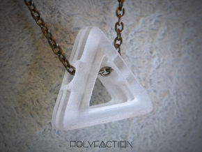 Embrace ::: Triangle Pendant ::: v.01 in Transparent Acrylic