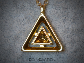 Origin ::: Triangle Pendant ::: v.01 in 14k Gold Plated Brass
