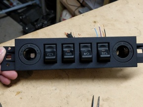97-01 Jeep Cherokee XJ Police Package Switch Panel in Black Strong & Flexible