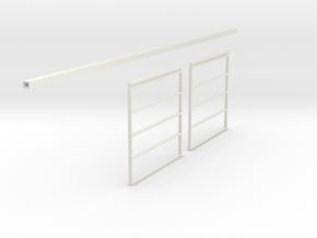 1/64 Sliding Machine Shed Door Frame 14' x 30' in White Natural Versatile Plastic