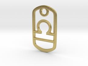 Libra in Natural Brass