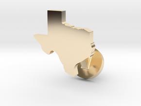 Texas Cufflink - Curved Bar in 14k Gold Plated Brass