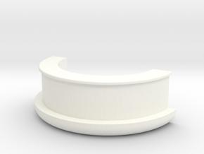 Picnic Table Umbrella Spacer (half) in White Processed Versatile Plastic