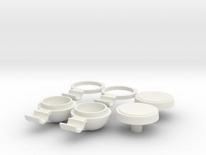 Marui Complete Fog Light set in White Natural Versatile Plastic