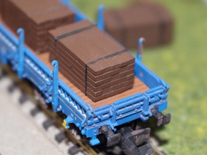 N Scale 4 Ties Stacks in Smooth Fine Detail Plastic