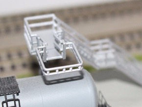 N Scale Tank Car Loading Bridge 4x Medium in Frosted Ultra Detail