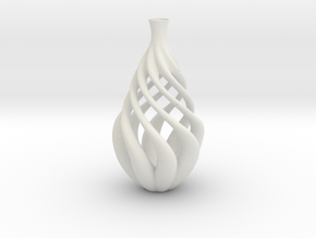 Vase J1722 in White Natural Versatile Plastic