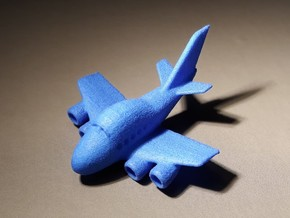 Funny Boeing 747 plane keychain in Blue Processed Versatile Plastic
