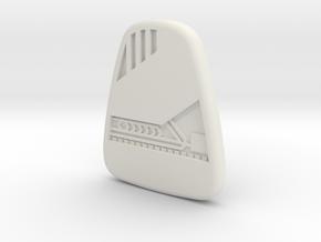 Star Trek Voyager Mobile Emitter in White Strong & Flexible
