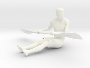 Kurt with a Single Oar in White Processed Versatile Plastic: 1:22.5