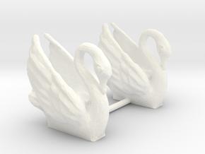 Swans (S) in White Processed Versatile Plastic