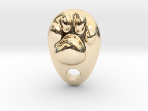 Cat Hand A1 in 14k Gold Plated Brass: Small