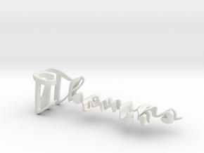 3dWordFlip: Thomas/Estelle in White Natural Versatile Plastic