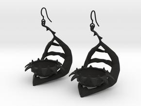 Carnivorous plant earring Planter in Black Premium Strong & Flexible
