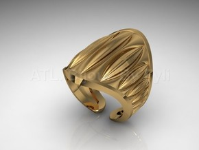 Cocoa Pod Ring – Size 5 - 8 in 14k Gold Plated