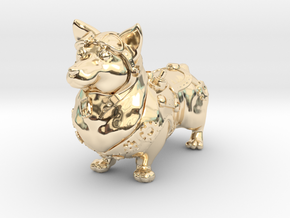 Steampunk Corgi in 14K Yellow Gold