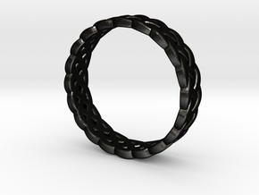 Rohkea Bold Celtic Knot in Matte Black Steel: 6 / 51.5