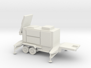 1/87 Scale Patriot Missile Radar Trailer in White Natural Versatile Plastic