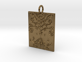 Tree of Life Veve Pendant in Natural Bronze