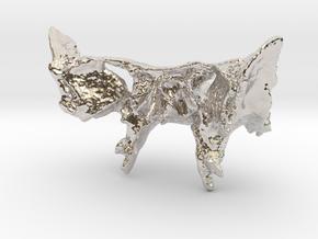 Human Sphenoid Bone Pendant in Platinum