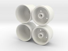 Marui Big Bear Front Wheels in White Natural Versatile Plastic