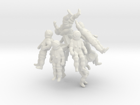 Generic Astronauts Set / 1:144 in White Natural Versatile Plastic