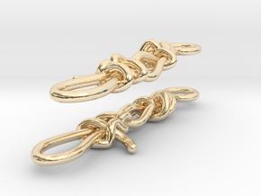 Trucker's hitch earrings in 14k Gold Plated Brass
