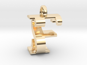 FS Monogram serifs  [pendant] in 14K Yellow Gold