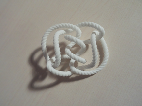 Knot 10₁₄₄ (Rope with detail) in White Processed Versatile Plastic: Large